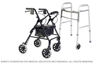 Photo of two types of walkers