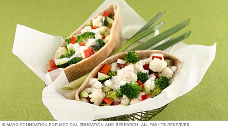 Picture of vegetable pita pockets