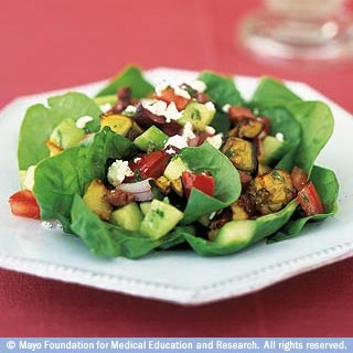 Health foods like salad are part of a healthy diet