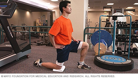 Photo of hip flexor stretch