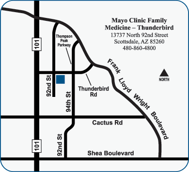 Map of Thunderbird Office