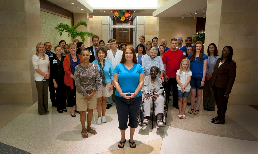 A group photo of the people in the American Heart Association's