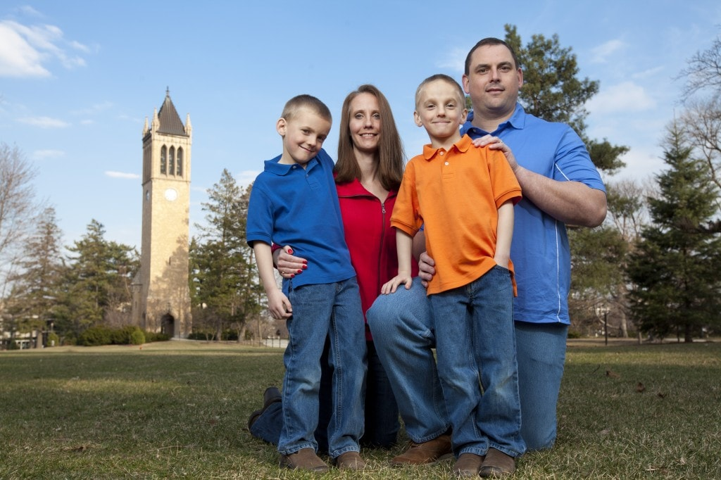 Caleb Ragaller and his family