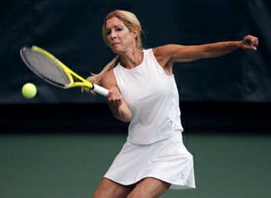 Jill Morton playing tennis