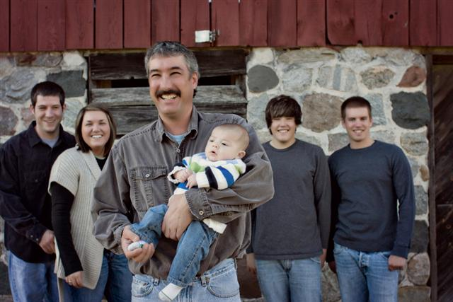 Ron Reffitt Jr and his family.