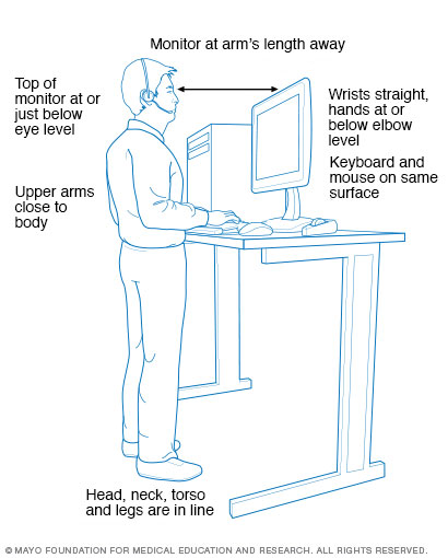 Standing workstation