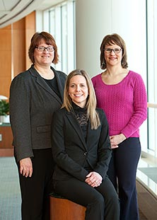 Rhonda Johnson, Michelle Bouquet and Cynthia Melton are part of the team in the Female Urology and Incontinence Clinic.
