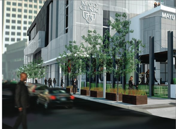 Artist's rendering of new Mayo Clinic Sports Medicine Center, Minneapolis