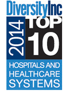 2014 DiversityInc Top 10 Hospital Systems logo
