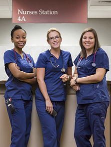 Photo of three Mayo Clinic nurses