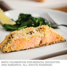 Dijon parmesan crusted salmon mayo clinic for Mayo clinic fish oil